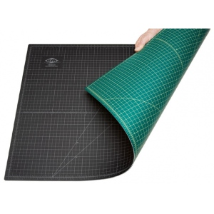 "Alvin® GBM Series 8 1/2"" x 11"" Green/Black Professional Self-Healing Cutting Mat; Color: Black/Gray, Green; Grid: Yes; Material: Vinyl; Size: 8 1/2"" x 12""; Thickness: 3mm; Type: Cutting Mat; (model GBM0812), price per each"
