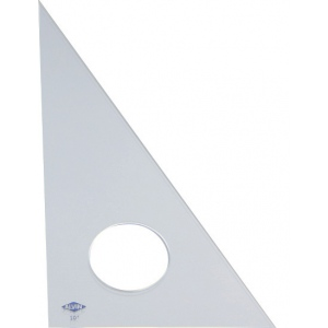 "Alvin® 12"" Clear Professional Acrylic Triangle 30°/60°: 30/60, Clear, Acrylic, 12"", Triangle, (model 130C-12), price per each"