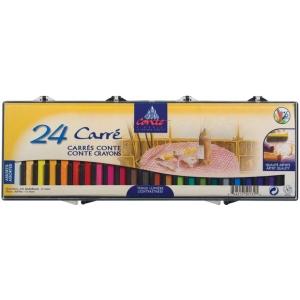 Conte™ Crayon 24-Color Assorted Set: Multi, Stick, (model C50131), price per set