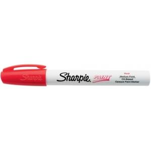 Sharpie® Oil Paint Marker Medium Red: Red/Pink, Paint, Medium Nib, (model SN35550), price per each