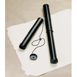 "Alvin® Mini Telescoping Plastic Carrying Tube – 2-1/4"" I.D.: Black/Gray, 17"" - 30"", Plastic, 2 1/4"", (model TS1), price per each"