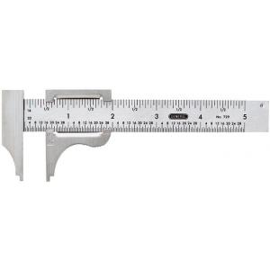 "General® 5"" Pocket Slide Caliper; Color: Metallic; Material: Steel; Size: 4""; Style: Manual; Type: Caliper; (model V729), price per each"