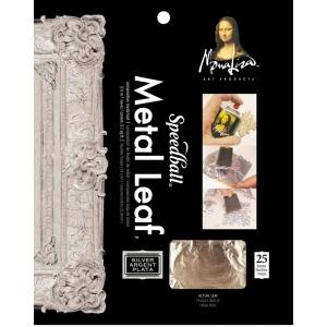 "Mona Lisa™ Metal Leaf™ Silver Sheets: Metallic, Sheet, 18 Sheets, 5 1/2"" x 5 1/2"", (model ML10206), price per 18 Sheets"