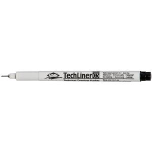 Alvin® TechLiner Technical Drawing Marker .3mm: Black/Gray, .3mm, Fine Nib, Technical, (model TL03), price per each