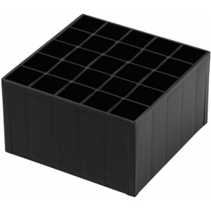 Chartpak® AD™ Empty Plastic Cube: Black/Gray, Plastic, Storage Box, (model CDY25), price per each