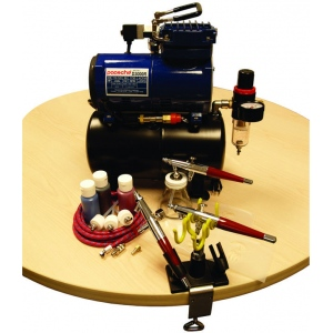 Paasche PTS-3S Professional Tattoo Set with D3000R Air Compressor (1/8 hp.)