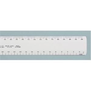"Alvin® 280 Series 12"" White Plastic Flat Architect Scale; Color: White/Ivory; Material: Plastic; Size: 12""; Type: Architect; (model 280P), price per each"