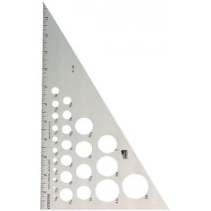 "Fairgate® 12"" Aluminum Triangle 30/60: 30/60, Clear, Aluminum, 12"", Triangle, (model AT230-12), price per each"