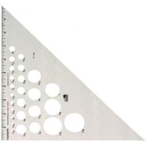 "Fairgate® 14"" Aluminum Triangle 45/90: 45/90, Clear, Aluminum, 14"", Triangle, (model AT245-14), price per each"