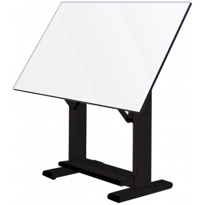 "Alvin® Elite Table Black Base White Top 36"" x 48""; Angle Adjustment Range: 0 - 85; Base Color: Black/Gray; Base Material: Steel; Height Range: 38"" - 45""; Top Color: White/Ivory; Top Material: Melamine; Top Size: 36"" x 48""; (model ET48-3), price per each"