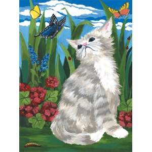 "Royal & Langnickel® Painting by Numbers™ 8 3/4 x 11 3/8 Junior Small Set Kitten & Butterflies: 8 3/4"" x 11 3/8"", (model PJS7), price per set"