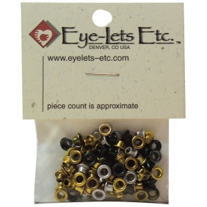 "Blue Hills Studio™ Eyelet Assortment Metallic Set: Metallic, Aluminum, Round, 1/8"", (model BHSEYE2), price per pack"