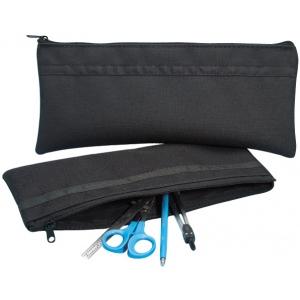 """Alvin® Black Nylon Utility Bag 5"""" x 13""""; Color: Black/Gray; Material: Nylon; Size: 5"""" x 13""""; (model N513), price per each"""