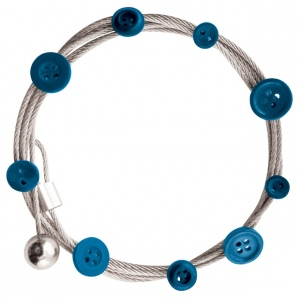 """Mishu Mighty Magnet Photo Cable Blue Buttons: Blue, 57"""", Circle, Cable, (model M901), price per each"""