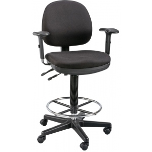 "Alvin® Zenith™ Drafting Chair: No, Black/Gray, Foot Ring Included, 24"" - 29"", 30"" & Up, Under 24"", Fabric, (model DC577-40), price per each"