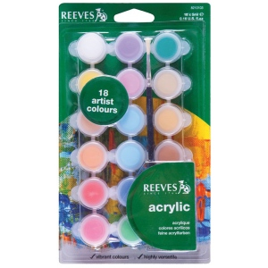 Reeves™ 5ml Acrylic 18-Color Set; Color: Multi; Format: Tube; Size: 5 ml; Type: Acrylic; (model 8210103), price per set