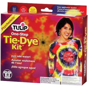 Tulip® One-Step Dye™ Psychedelic Tie-Dye Kit for 8 Shirts: 8 Shirts, Multi, Bottle, Tie Dye, (model D24251), price per kit