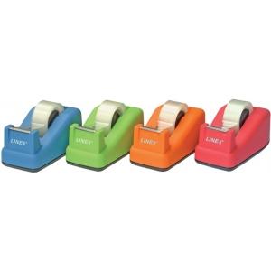 """Linex® Soft Touch Tape Dispenser Orange: Dispenser, General, 3/4"""", (model TD100-OR), price per each"""