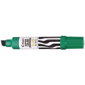 Pilot®  Super Color Jumbo Green Permanent Marker; Color: Green; Refillable: Yes; Tip Type: Chisel Nib; (model SC6600-G), price per each