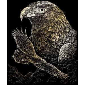 "Royal & Langnickel® Engraving Art Set Gold Foil Eagles; Board Size: 8"" x 10""; Color: Metallic; (model GOLF19), price per set"