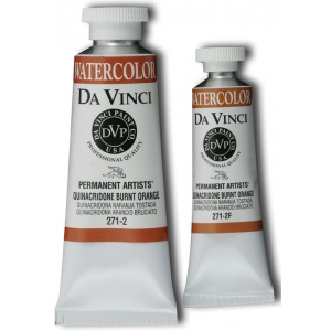 Da Vinci Artists' Watercolor Paint 37ml Quinacridone Burnt Orange; Color: Brown, Orange; Format: Tube; Size: 37 ml; Type: Watercolor; (model DAV271-2), price per tube