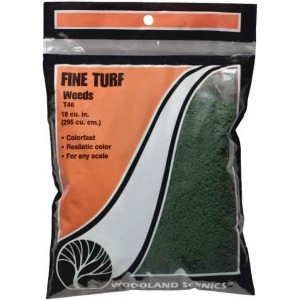 Woodland Scenics® Soil Fine Turf: Brown, 180 cu in, Turf, (model WST41), price per each