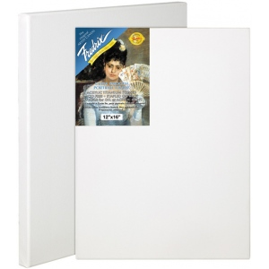 "Fredrix® Artist Series Blue Label 12"" x 16"" Blue Label Ultra Smooth Stretched Canvas; Color: White/Ivory; Format: Sheet; Size: 12"" x 16""; Stretcher Strips: 11/16"" x 1 9/16""; Type: Stretched; (model T5605), price per each"