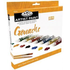 Royal & Langnickel® 24-Color Gouache Paint Set; Color: Multi; Format: Tube; Size: 12 ml; Type: Gouache; (model RGOU24), price per set