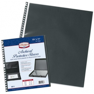"Prestige™ Archival Protective Sleeve 11"" x 14""; Color: Black/Gray; Material: Polypropylene; Size: 11"" x 14""; (model RF14), price per pack"