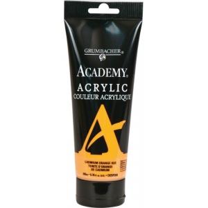 Grumbacher® Academy® Acrylic Paint 200ml Cadmium Orange Hue; Color: Orange; Format: Tube; Size: 200 ml; Type: Acrylic; (model GBC025P200), price per tube