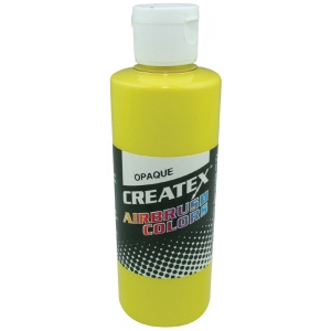Createx™ Airbrush Paint 2oz Opaque Yellow; Color: Yellow; Format: Bottle; Size: 2 oz; Type: Airbrush; (model 5204-02), price per each