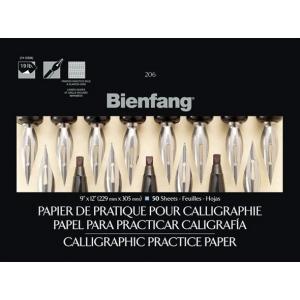 "Bienfang Calligraphic Practice Paper Pad: 9"" x 12"", 50-Sheet"