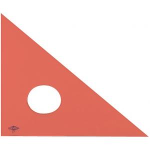 """Alvin® 14"""" Fluorescent Professional Acrylic Triangle 45°/90°: 45/90, Orange, Acrylic, 14"""", Triangle, (model 131F-14), price per each"""