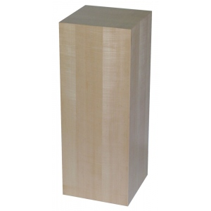 "Xylem Maple Wood Veneer Pedestal: 18"" X 18"" Size, 24"" Height"