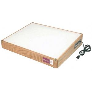 "Gagne Porta-Trace Lightbox: 11"" x 18"", Oak Frame"