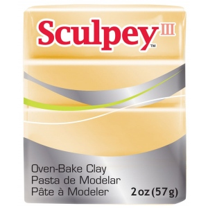 Sculpey® III Polymer Clay Jewelry Gold: Metallic, Bar, Polymer, 2 oz, (model S3021132), price per each