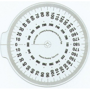 "True Angle® Attachable Dial; Color: White/Ivory; Material: Plastic; Size: 4""; Type: General Purpose; (model Q104), price per each"