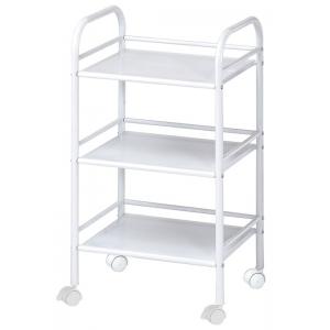 "Blue Hills Studio™ Storage Cart 3-Shelf White: White/Ivory, Plastic, 3-Shelf, 12""d x 4 1/4""w x 29 3/4""h, (model SH3WH), price per each"