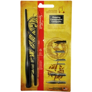 Speedball® Mapping Pen Set; Tip Size: Assorted; Tip Type: Mapping Nib; Type: Calligraphy; (model H2965), price per set