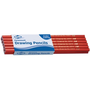 Alvin® Paramount Circle Drawing Pencil F; Color: Black/Gray; Degree: F; Type: Drawing; (model 5054-F), price per dozen (12-pack)