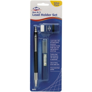 Alvin® Ben B/3 Lead Holder Set; Lead Color: Black/Gray; Lead Size: 2mm; Type: Lead Holder; (model BVP3), price per pack