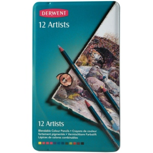 Derwent Artist Pencil 12-Color Tin Set; Color: Multi; (model 32092), price per set