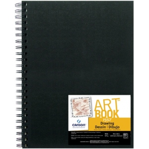 "Canson® ArtBook™ 9"" x 12"" Wirebound Drawing Book; Binding: Wire Bound; Color: White/Ivory; Format: Book; Ink Color: Black/Gray; Quantity: 60 Sheets; Size: 9"" x 12""; Type: Drawing; Weight: 90 lb; (model C100510410), price per each"