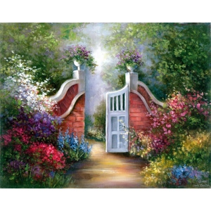 "Royal & Langnickel® Paint Your Own Masterpiece™ 11 x 14 Garden Gate: 11"" x 14"", (model POM-SET12), price per set"