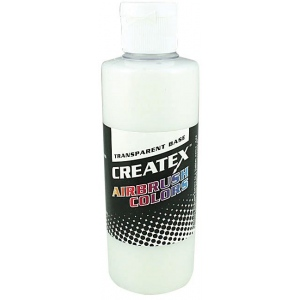 Createx™ Airbrush Transparent Base 2oz; Format: Bottle; Size: 2 oz; Type: Airbrush; (model 5601-02), price per each