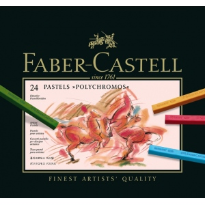 Faber-Castell Polychromos Artists Pastel: Cardboard Box of 24