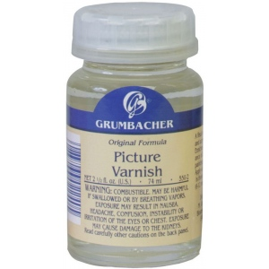 Grumbacher® Picture Varnish: Bottle, 2.5 oz, Varnish, (model GB550-2), price per each