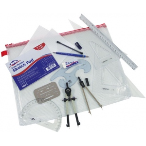 Alvin® Basic Beginner's Drafting Architects' Kit: Drawing and Geometry Set, (model BDK-1A), price per each