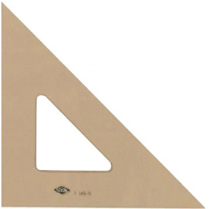 "Alvin® ; Angle: 45/90; Color: Brown; Material: Acrylic; Size: 12""; Type: Triangle; (model T145-12), price per each"
