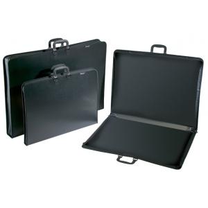 "Prestige™ Studio™ Series Lite Art Portfolio 3"" Gusset 20"" x 26""; Color: Black/Gray; Gusset Size: 3""; Material: Polypropylene; Size: 20"" x 26""; (model PC2026-3), price per each"